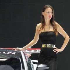 promo car girl 541145976