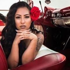 ink latina girl chola car chica 410