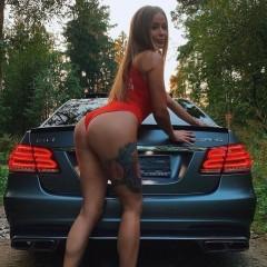 amg car girl 50098
